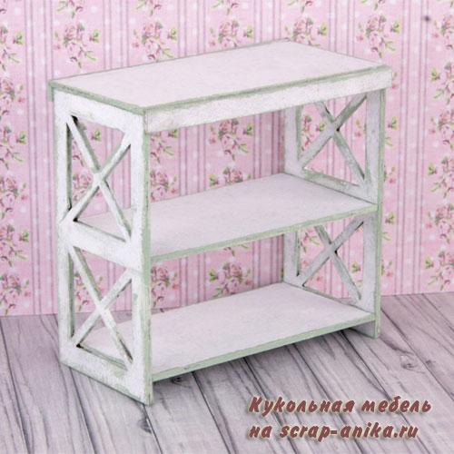 мебель в кукольный домик, стеллаж кукольный, кукольная мебель из картона
