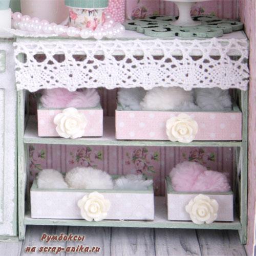 шкаф в кукольный домик, кукольная мебель из картоана