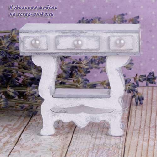 швейный столик, столик для швейной машинки, мебель из картона, кукольная мебель своими руками