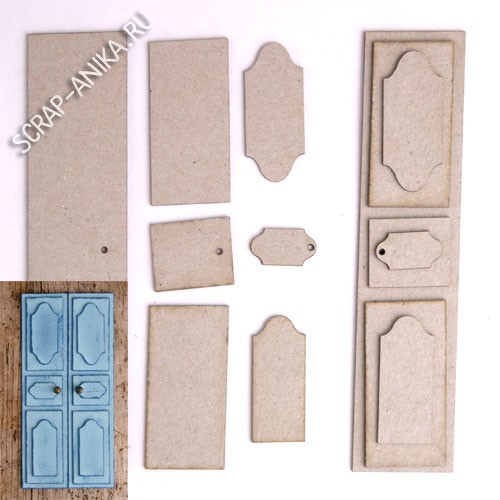 заготовка для дверей, кукольные двери