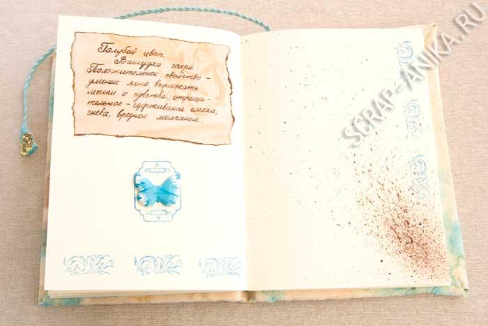 Голубая страница бабочка детали