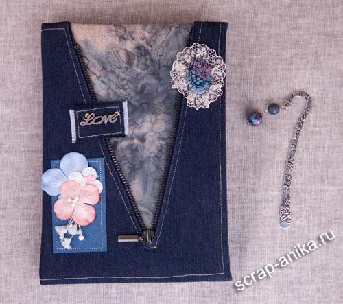 джинсовый блокнот, блокнот из джинсы