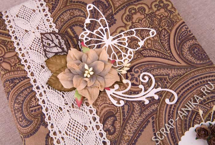 бабочка, цветы, блокнот