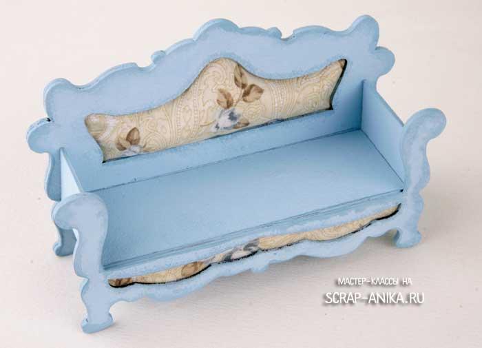 кукольный домик, кукольный диванчик