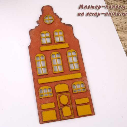 голландские домики, новогодний декор, домики голландия