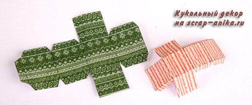 коробка для подарков, кукольный домик, новогодний декор