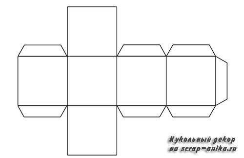 разверстка коробочки квадратной