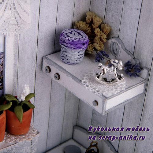 кукольный декор, кукольный домик, румбокс в стиле прованс, прованс