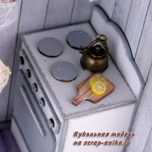 кукольная кухня, кукольная плита, кукольный румбокс