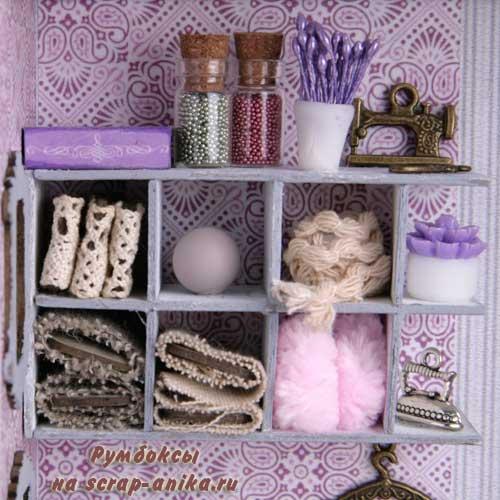 румбокс швейнаямастерская, миниатюра швейная мастерская, швейная мастерская