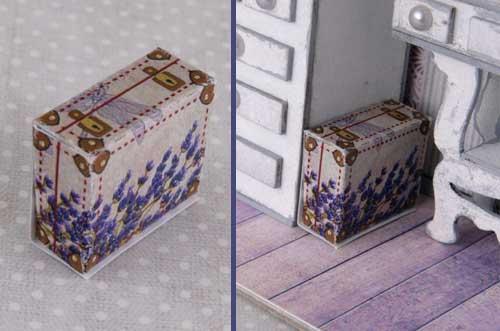 миниатюра чемодан, чемодан миниатюра, кукольныйдомик, миниатюра
