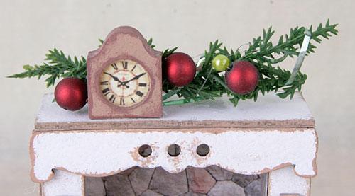 миниатюра с часами, миниатюрные часы, часы для румбокса, часы для скрапбукинга