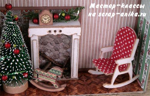 кукольная мебель из картона, кукоьный декор, мебель для румбокса