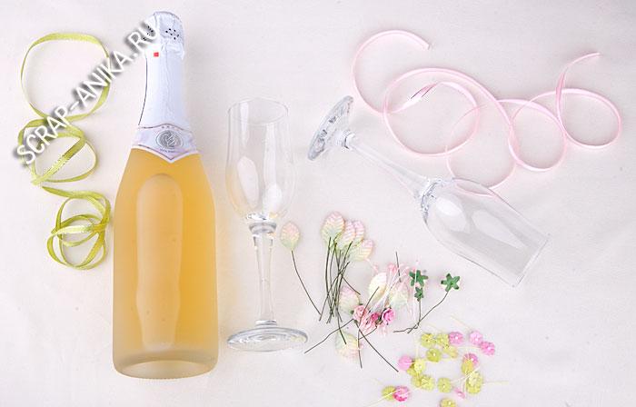 бокалы, шампанское, свадьба