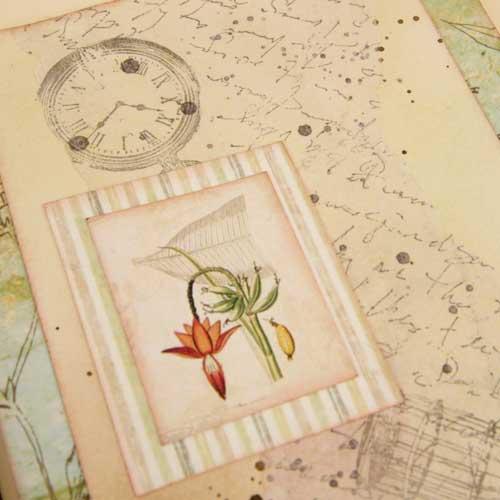 ботанический стиль, как сделать страничку, страницы в арт бук, страницы для артбук, мастер классы, бумага тишью