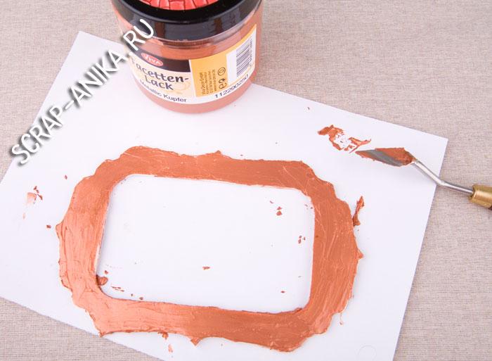 как покрасить чипборд, что такое чипборд, как сделать кракелюр, кракелюрная паста