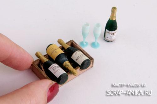 румбоксы, для румбоксов, бутылочница миниатюра, ящик для бутылок миниатюра