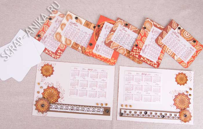 календарные листики, scrap-anika