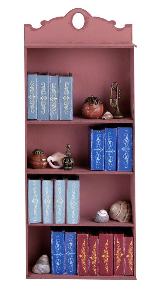 книжный шкаф в кукольном домике