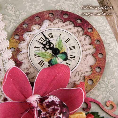 орхидеи, скрапбукинг, чипборды, мастер классы