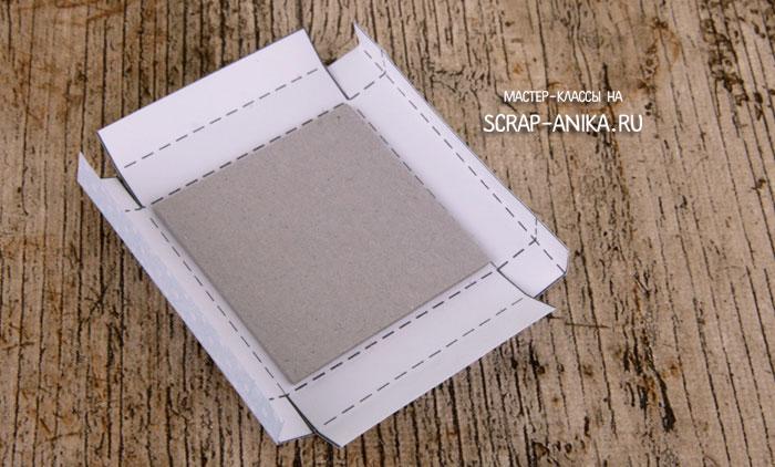как сделать крышку на коробочку