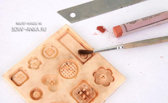 молд, полимерная глина, пастель, скрап декор своими руками