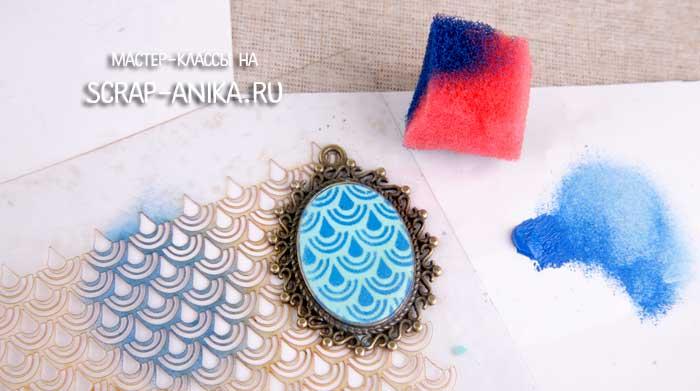 медальон из полимерной глины