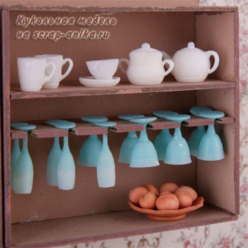 кукольная посуда, кукольный декор, масштаб 1:12