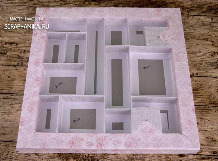 как сделать шадоубокс, основа для коробки, коробка основа, скрапбукинг детали, детали для скрапбукинга