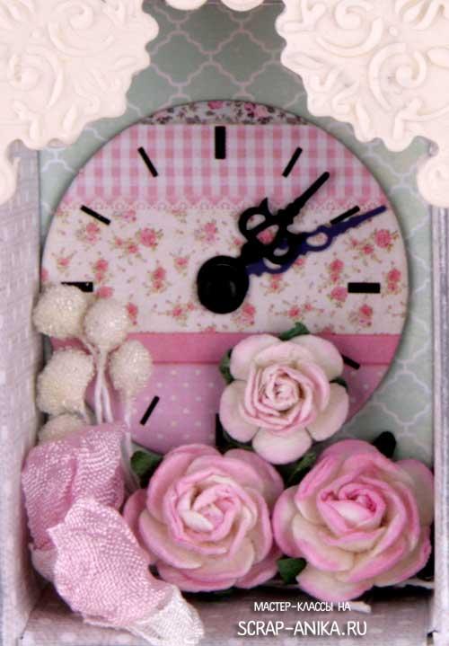 часы, декор, шадоубокс, скрапдекор, как сделать шадоубокс, что такое шадоубокс