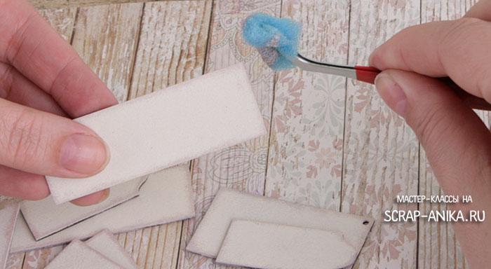буфет для кукольного домика, мастер-класс, мастер-классы по скрапбукингу, как сделать кукольный домик
