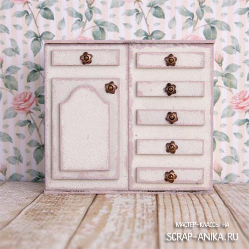 шкафчики для румбоксов, шкафчикдля кукольного домика, кукольный домик