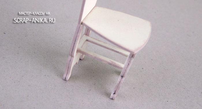 как сделать стульчик, стульчик в кукольный домик