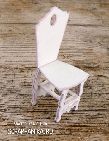 стульчик в кукольный дом, стул в кукольный дом, кукольный стульчик
