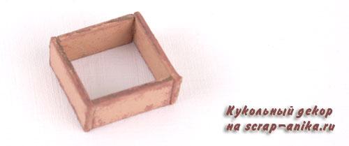 как сделать ящик для кукольного домика, чем заполнить буфет