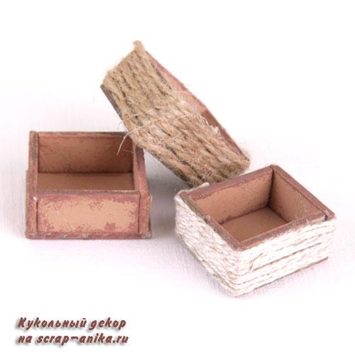 ящики для буфета, заполнение кукольного домика, заполнение румбокса